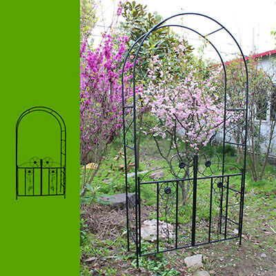 2.3M Garden Metal Arch Entry Outdoor Plant Climber Arbour Gate Wedding Decor