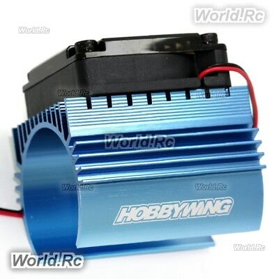 Hobbywing Cooling Fan 44x65mm and Heat Sink Combo C4 for 1:8 RC Car HWI86080130