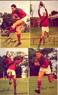 WAFL CARDS MOBIL 1965 SIGNED : 4 PLAYERS from WEST PERTH  NO  RESERVE!!!
