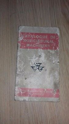 Catalogue of Agricultural machinery Massey Ferguson  TRACTOR  booklet
