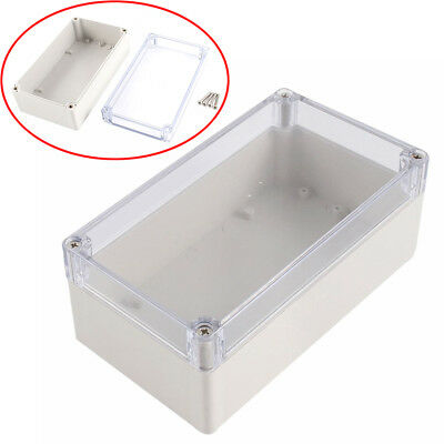 158x90x60mm Waterproof Clear Electronic Project Box Enclosure Cover Plastic Case