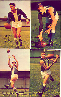 WAFL CARDS MOBIL 1965 SIGNED : 4 PLAYERS from EAST FREMANTLE  NO  RESERVE!!!