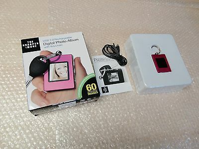 NIB The Sharper Image 1.4''Digital Photo Album with Keychain USB2.0 Rechargeable