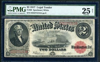 1917 Legal Tender  $2.00 100 Year Old Bracelet Note Pmg 25 Please Lqqk!!*