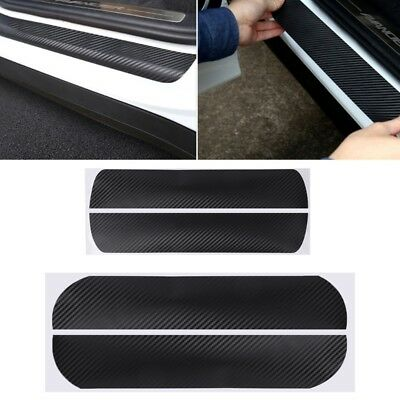 4 Pcs Car Door Pedal Plate Sill Scuff Cover Sticker For VW Golf 6 MK6 2009-2013