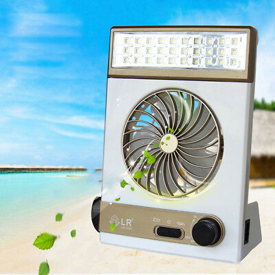 Arlec Rechargeable 2 Speed Fan And Led Light Up 35h Usb 1amp Out