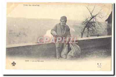 Type of the Center Vintage Postcard the Jew wandering TOP