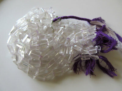 Crystal Quartz Faceted Chewing Gum Cut Tumbles 10mm To 12mm 8 Inch Strand GDS153