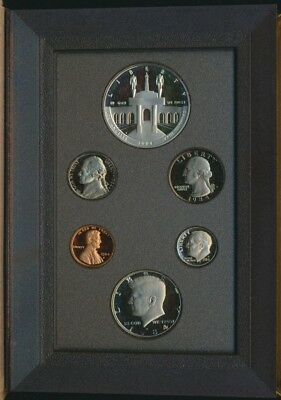 USA 1984S 6 coin Proof Set no certificate or outer box Silver $1