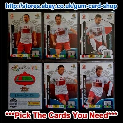☆ Panini - Euro 2012 Adrenalyn XL (UK) Teams P to Z  *Please Choose Cards*