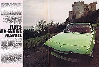 1973 Article - FIAT X1/9 (FIAT'S MID-ENGINE MARVEL) - 7 Page Article