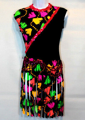 Taffy's Showstoppers Costumes Women's Small Adult Colorful Unitard with tassels