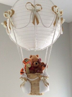 Winnie the Pooh and friends in a hot air balloon light shade