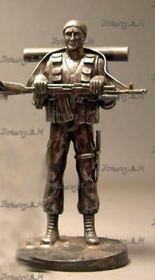 White metal soldier, Special Forces, Soldier,Souvenir, gift, Professions, 150 mm