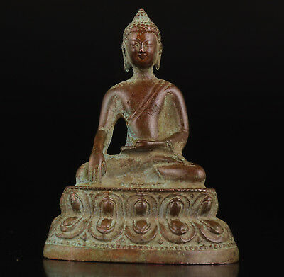 Superb Vintage Collectable Old Decoration Handwork Bronze Sitting Buddha