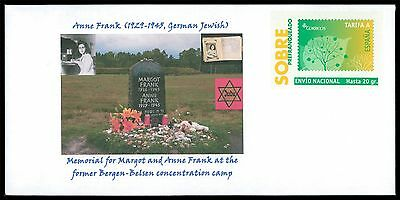SPAIN PRIVAT-GA GANZSACHE ANNE FRANK JUDAICA JEWISH ANTI-FASCISM RARE!! cd26