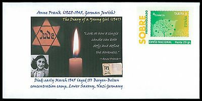 SPAIN PRIVAT-GA GANZSACHE ANNE FRANK JUDAICA JEWISH ANTI-FASCISM RARE!! cd22