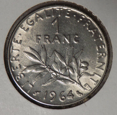 France 1964 1 Franc Coin - Uncirculated !