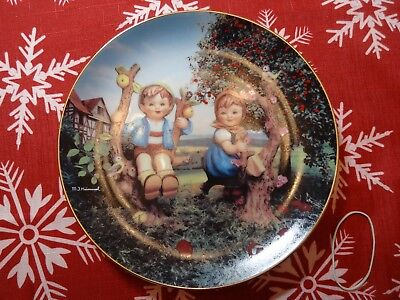 MJ Hummel Collector Plate, by the Danbury Mint, Apple Tree Boy and Girl