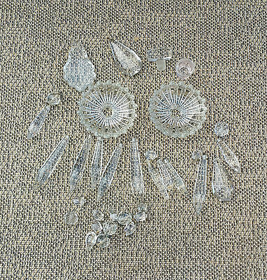 Antique Parts for Chandelier Crystal Pampilles Vintage French Antique