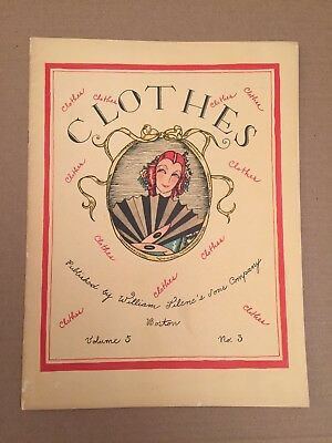 Rare - Filene's Autumn Clothes Catalog, Famous Boston Department Store, 1927