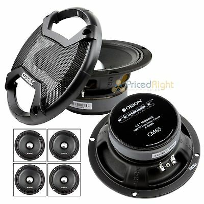 "6.5"" Midrange Speaker 1000W Max Power High Efficiency Orion CM65 4 Ohm Speakers"