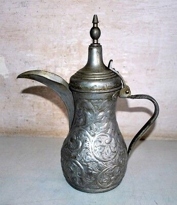 Ancient India Copper Hand Carved Islamic Hot Water Tea Pitcher Pot Kettle