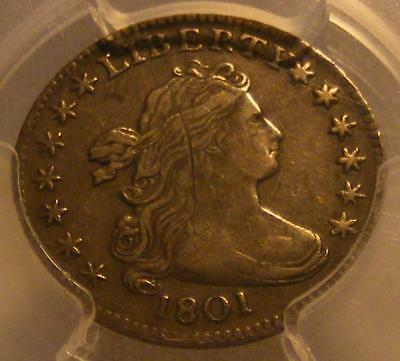 1801 Draped Bust Dime PCGS Genuine; Scratch; XF Details