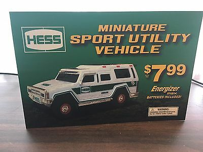 Hess Toy Truck Advertising Horizontal 6x9 Sign...   Authentic