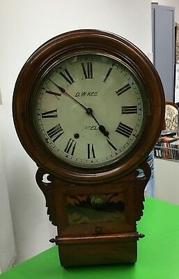 Jerome & Co Superior Anglo American Clock Wanduhr antik um 1880 VOLLE FUNKTION!!