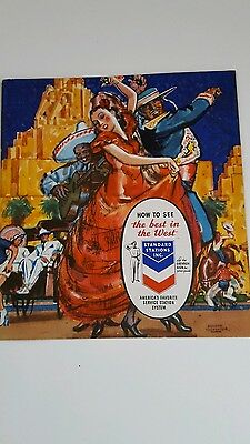 """Standard Stations Inc. 1939 Booklet   """"How to See the Best in the West"""""""