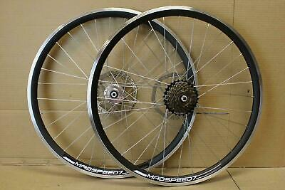 "700c Hybrid 29er 29"" MTB Bike Bicycle Disc Rim Front Rear 6/7/8 Speed Wheel Set"