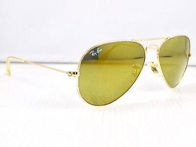 Ray Ban Small Aviator Flash Lens RB3025 W3274 55mm & Case