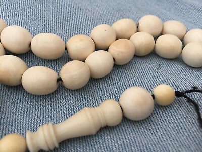 Collectible old rare prayer worry beads.Estate find...BOVINE