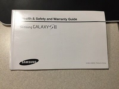 Samsung GALAXY SII Health And Warranty Guide