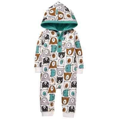 Gymboree Baby Boy One Piece Cub Hooded 6 12 18 24 NWT
