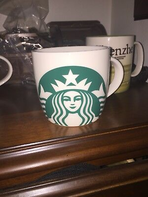 Starbucks Green Mermaid Logo Icon 2017 Coffee Mug Cup 14 oz.