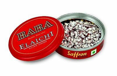 9X10 Gm Baba Silver Coated Elaichi Mouth Freshener With Free Worldwide Shipping
