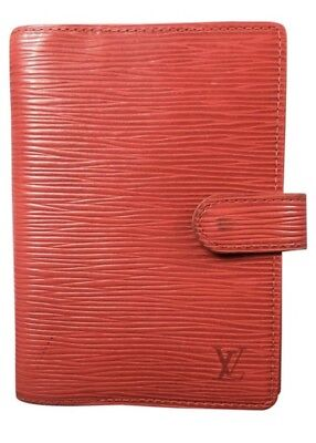 Louis Vuitton Diary Cover Agenda PM Red Epi Leather Authentic