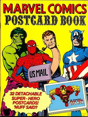 Marvel Comics Vintage Postcard Book 1978 Unused RARE Complete high grade beauty