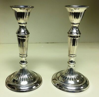 Silver-Plated Candlesticks, Elegant and Traditional, Hammered Details