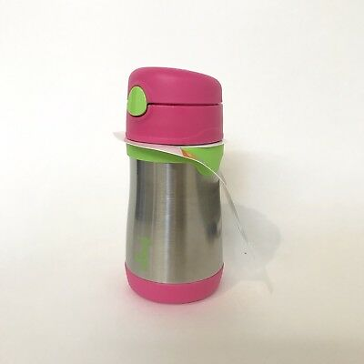 THERMOS FOOGO Vacuum Insulated Stainless Steel 10-Ounce Straw Bottle,