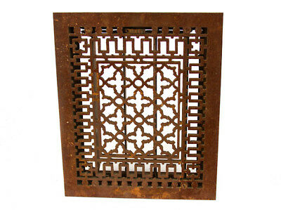 Antique Cast Iron Heater Grate, Heat Register, Victorian Era HEAVY LARGE SQUARE