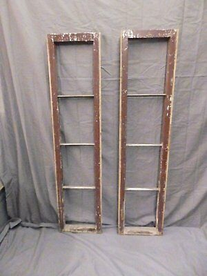 Pair Antique Sidelight Transom Door Window Sash Shabby Vtg Chic 52x12 588-17P