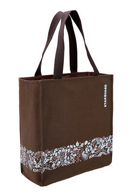 NEW Starbucks Misprint Brown Canvas Lunch Office All-Purpose Small Tote Bag