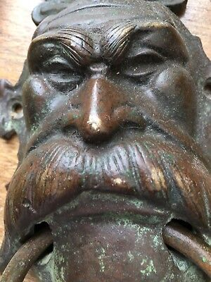 Vintage Old Metal Old Man Door Knocker