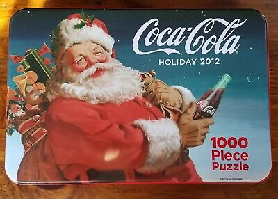 Coca-Cola Holiday 2012 1000 Piece Puzzle Christmas Santa Claus Collectable Tin