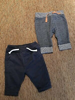 Two Pairs Next Trousers Up To 1 Month Boys Bundle