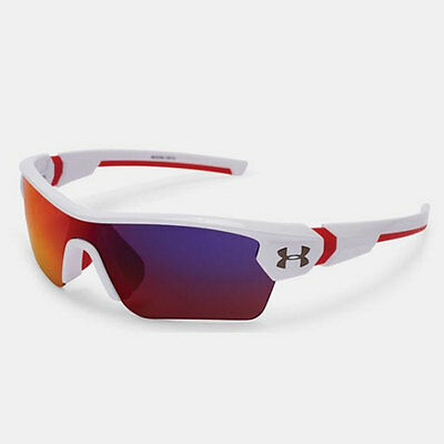 Under Armour *youth* Menace Sunglasses Shiny White Frame / Infrared Multi  18273