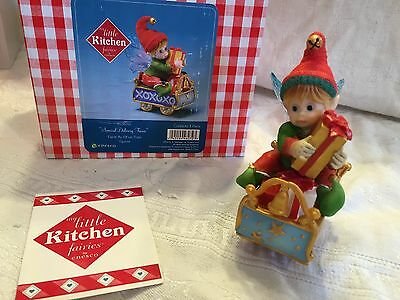 """My Little Kitchen Fairies """"SPECIAL DELIVERY FAIRIE"""" 2012 NIB CHRISTMAS ELF"""